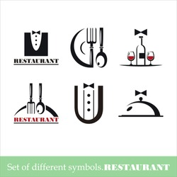 vector set of symbols for a restaurant