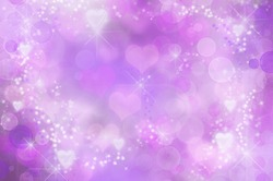 Abstract Valentine background. hearts abstract bokeh