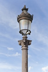 Street lamp at Place de la Concorde in Paris