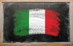 Italy - national flag and outline maps