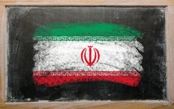 Iran - national flag and outline maps