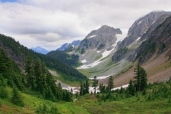 Mountain valley in North Cascades National Park, Washington State