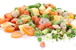 Frozen vegetables for soup