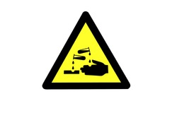 Warning sign of chemical substance influence's danger on a skin