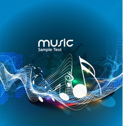 Colour vector the music poster design use.
