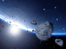Asteroid swarm rushes to earth