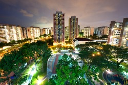 HDB housing complex in Singapore