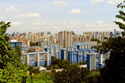 View of Singapore from Mount Faber park