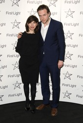 Sally Hawkins and Rafe Spall arriving at The First Light Film Awards 2012 BFI Southbank London. 05/03/2012 Picture by Simon Burchell / Featureflash