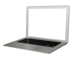 a stylish laptop with blank screen
