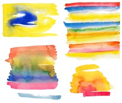 High resolution collection of colorful abstract watercolor backgrounds.