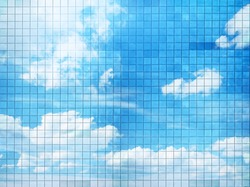 beautiful blue sky mosaic