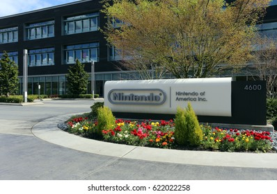 REDMOND, WA - APRIL 15: The Nintendo of America headquarters in Redmond, Washington on April 15, 2017. Nintendo is one of the world's largest video gaming companies.