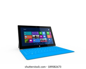 REDMOND, WASHINGTON (USA) - 24 APRIL 2014 - Microsoft Surface tablet on display. Microsoft's CEO Satya Nadella sees a chance for Microsoft to growth in the tablet market, Nadella told.