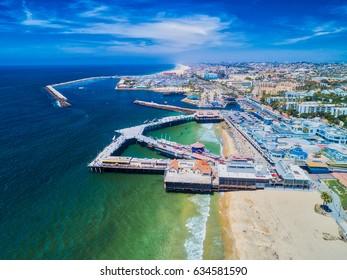 Redondo Beach Pier. Aerial photo taken from above Redondo Beach California on May 3, 2017.