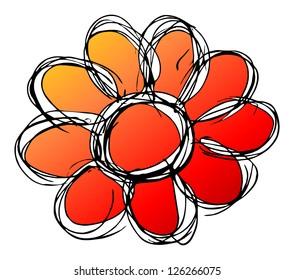 red,orange flower