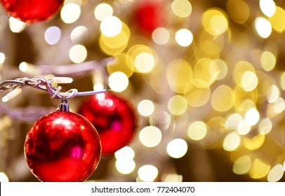 Red,orange,yellow,white holiday bokeh. Abstract Christmas background