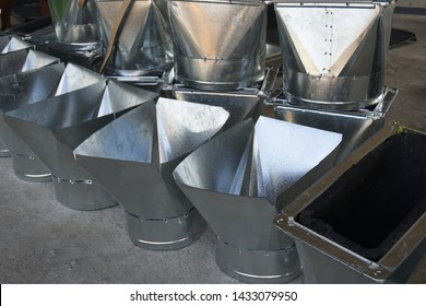 Reducing parts of air duct work of air conditioning and ventilation systems