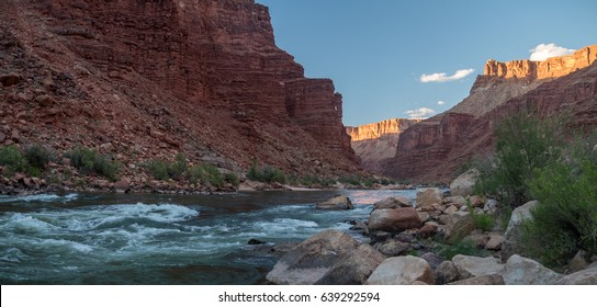 Redwall Limestone of the Grand Canyon with the Colorado River