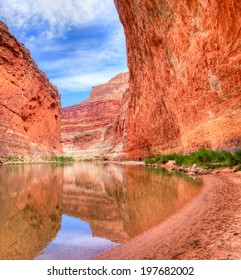 Redwall reflection in Colorado River.