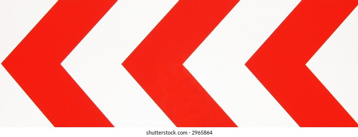 """Red-white road sign for """"left hand curve"""""""