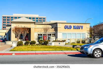Redwood City, CA, USA - Dec. 29, 2015: Old Navy Store. Founded in 1994 and headquartered in San Francisco, CA, Old Navy is a popular American clothing and accessories retailer owned by Gap Inc.
