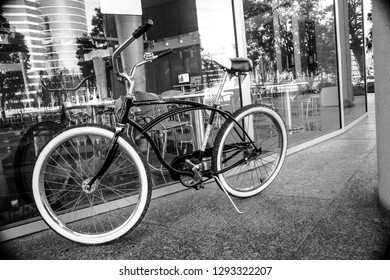 REDWOOD CITY, CA, USA - SEPT 24, 2008: Bicycle for employee moving inside Oracle campus located in Redwood City, CA, USA on Sept 24, 2008. Oracle is a multinational information technology corporation