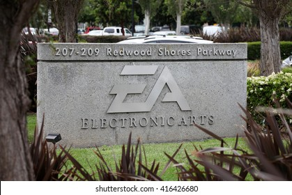 REDWOOD SHORES, CA - CIRCA MAY 2016 - Electronic Arts Headquarters. Electronic Arts (NASDAQ: EA) is an international leading games company based in California.