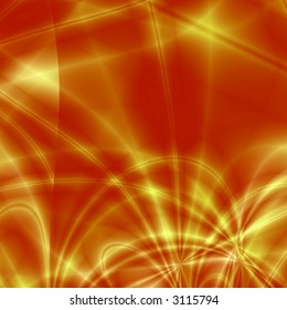 Red-yellow fantasy background
