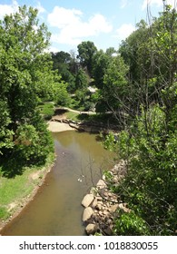 The Reedy River in Falls Park in Downtown Greenville, South Carolina