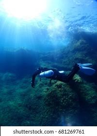 Reef near P29 Wreck, Cirkewwa Dive Site, Malta
