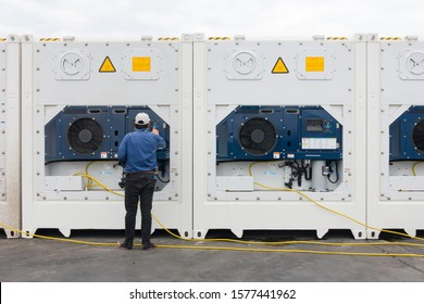 Reefer technician is control the temperature to keep cargo fresh for frozen or chill mode.