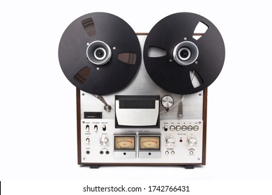 REEl to REEl Audio Tape Recorder isolated on white background