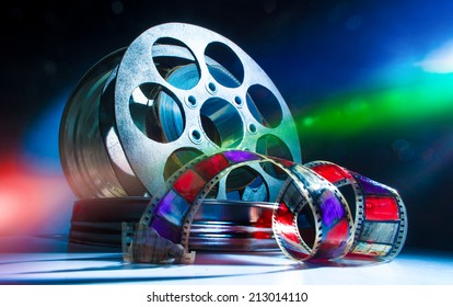 Reel with cinematic film