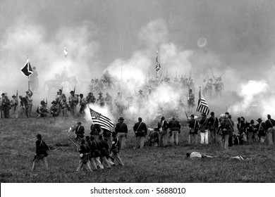 Reenactment of the American Civil War Battle of Tunnel Hill Ga. The original Battle occurred, in May of 1864 and signaled the start of the Atlanta Campaign.