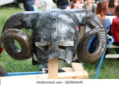 reenactment helmet of the Middle Ages