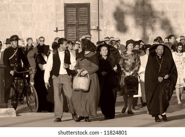 Reenactment of scenes from the streets of Malta during WWII