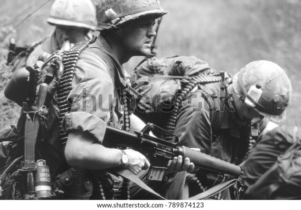 Reenactors Vietnam War Society Wear Uniforms Stock Photo (Edit Now