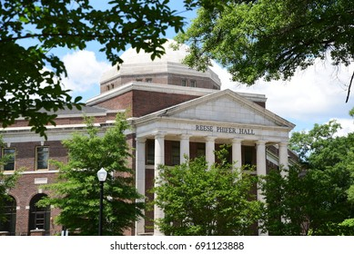 Reese Phifer Hall on the University of Alabama campus houses the School of Communication. June 2016