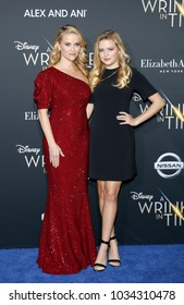 Reese Witherspoon and Ava Phillippe at the Los Angeles premiere of 'A Wrinkle In Time' held at the El Capitan Theater in Hollywood, USA on February 26, 2018.