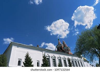 Refectory of Savvino-Storozhevski monastery, located in Zvenigorod, an old town in Moscow region, Russia