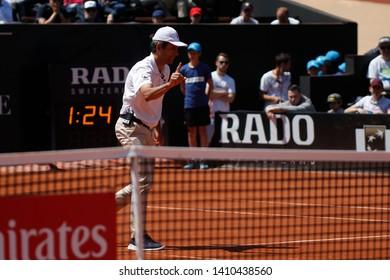 Referee ATP during the Open Parc Auvergne-Rhone-Alpes Lyon 2019, ATP 250 Tennis tournament on May 22, 2019 at Parc de la Tete d'Or in Lyon, France