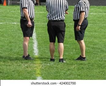 Referee consultation.