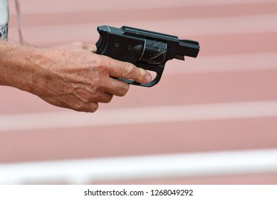Referee pistol to start at the track and field competitions