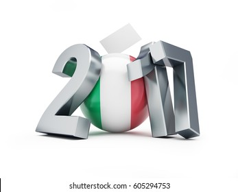 Referendum in Italy 2017 on a white background 3D illustration