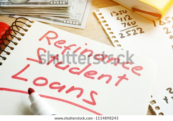 Refinance Student Loans >> Refinance Student Loans Form On Desk Stock Photo Edit Now