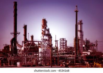 Refinery Complex at Dawn