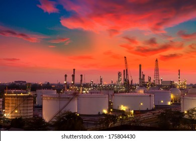 Refinery in the morning.