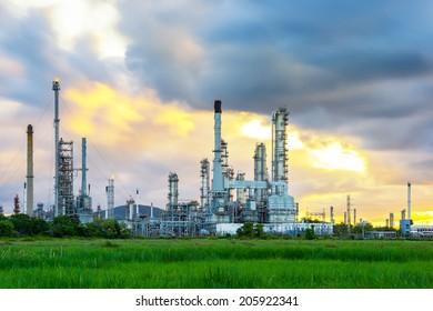 Refinery in morning