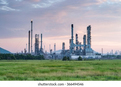 refinery in a morning light